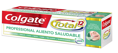 Crema Dental Colgate<sup>&reg;</sup> Total 12 Professional Aliento Saludable